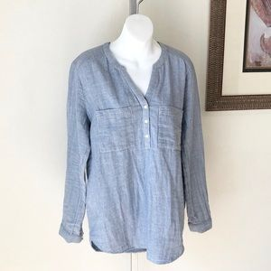 a.n.a. V-Neck Swim Cover Up or Tunic Blouse